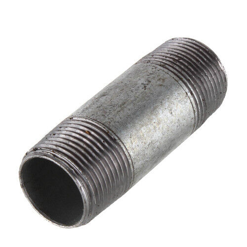 """1/2"""" GALVANIZED STEEL 2-1/2"""" LONG NIPPLE fitting pipe 1/2 x 2-1/2 malleable iron"""