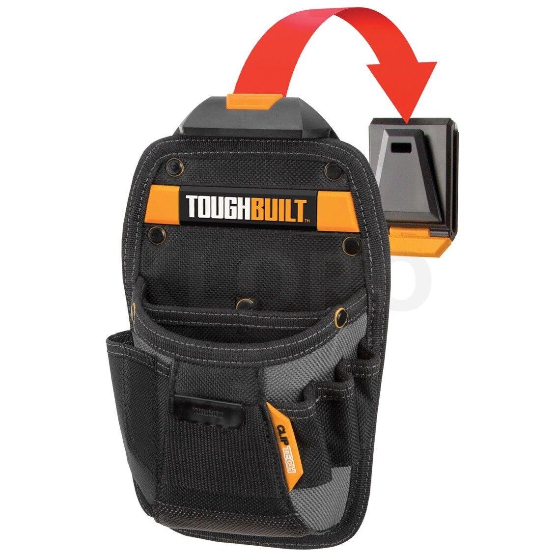 TOUGHBUILT Werkzeugtasche 4 Fächer Gürteltasche mit Clip-System universal  TOU C