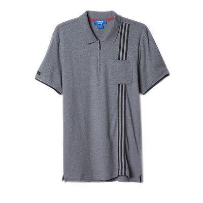 Adidas Originals Porche 911 Mens Cotton Pique Polo Shirt Top Grey AJ8112 R2C