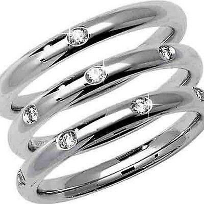 Hallmarked Platinum Diamond Set Court Wedding Ring - Widths 2.5mm to (Court Diamond Set)