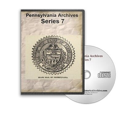 Pennsylvania Archives Series 7 Complete All 5 Volumes on CD Name Index B423