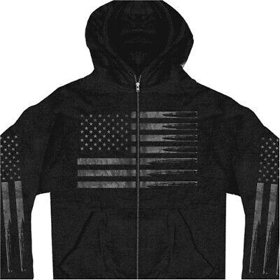 American Flag Bullets Full Zip Men's Hoodie