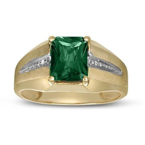 mens 14k emerald ring ebay. Black Bedroom Furniture Sets. Home Design Ideas