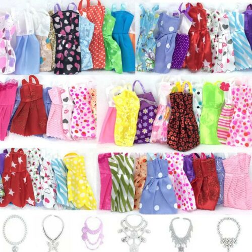 30 Pcs/lot Handmade Party  outfit for Barbie Doll Chirstmas Gift Clothes Dress