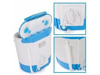 Tectake Portable twin tub Washing Machine & spin dryer 2.5kg load caravan / camping hardly used