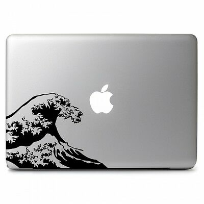 Wave Japan Fuji Vinyl Decal Sticker for Macbook Air Pro Laptop Car Window Decor