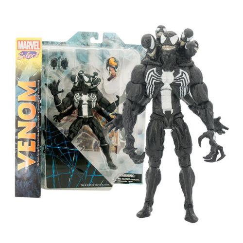 Spiderman SELECT Venom Villian Comic Action Figure PVC Doll Toys 20cm No box