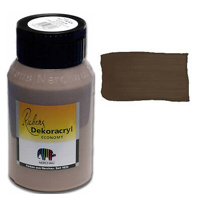 Dekoracryl Umbra 750 ml Acrylfarbe Braun (6,85€/1L)
