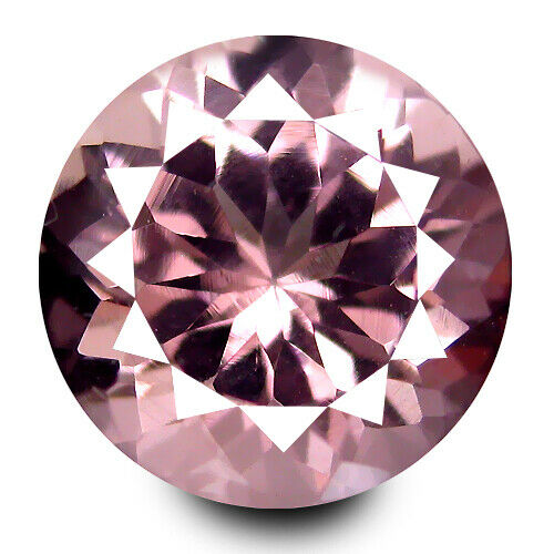 0.35Cts Genuine Unheated Natural Pink Color Morganit Round Shape 4.6mm Ref VDO