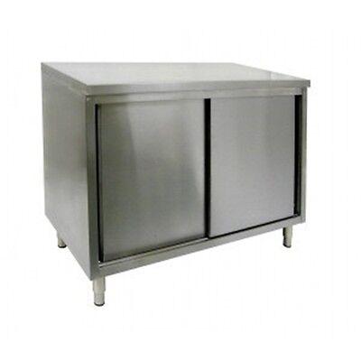 16 X 96 Stainless Steel Storage Dish Cabinet - Sliding Doors