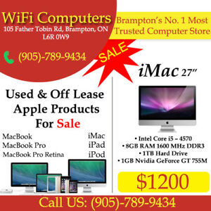 """iMac 27"""" On Sale At ( WiFi Computers - Computer Store)"""