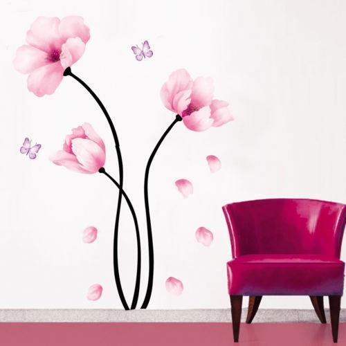 Pink Flower Wall Decal Ebay