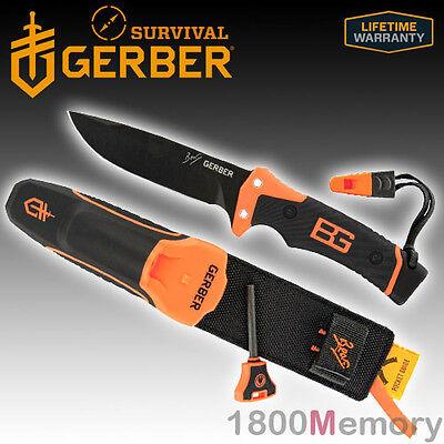Gerber Bear Grylls Survival Ultimate Pro Fine Edge Knife Sheath Whistle FireStar