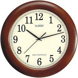 La Crosse Technology WT-3122 Wooden 12.5 Analog Atomic Clock