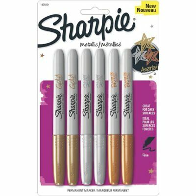Sharpie Metallic Permanent Markers Assorted 6pack - Fine Marker 1829201
