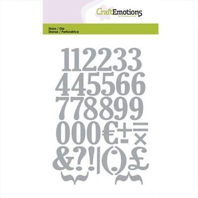 CraftEmotions Stanzschablone Zahlen 115633/0503 Satzzeichen Die