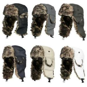 Adult UNISEX Winter Trapper Aviator Trooper Earflap Warm Russian Ski Hat Fur Bomber - BRAND NEW - FREE SHIPPING
