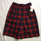 Plaids & Checks Dress Shorts Red Shorts for Women