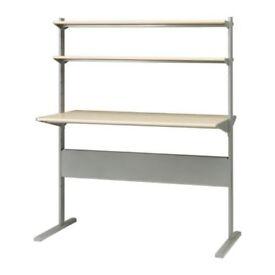 Ikea Desk with 2 Shelves