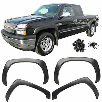99-06 Chevy Silverado GMC Sierra Fender Flares Smooth Black OE Style Paintable for sale  Canada