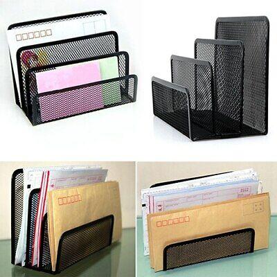 Mesh Desk Organizer Letter Tray 3 Tier Desk Organizer For Office Dcor Set Black