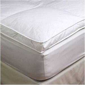 2 cal king goose down mattress topper featherbed feather bed baffled ebay. Black Bedroom Furniture Sets. Home Design Ideas