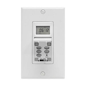 GE 7 day Programmable digital timer in-wall switch 15AMP 15086 New