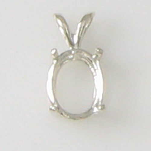 PRE-NOTCHED OVAL PENDANT IN STERLING SILVER .925 HANDMADE
