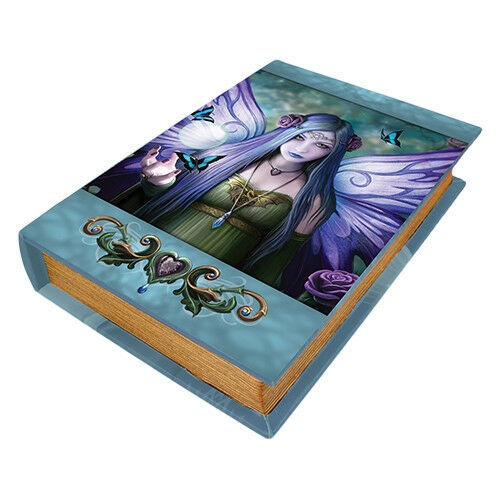MYSTIC AURA FAERIE Book Box Anne Stokes purple butterfly faery wicca wiccan