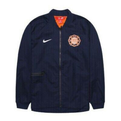 NEW Mens Nike NBA New York Knicks City Edition Varsity Jacket Blue Sz Medium