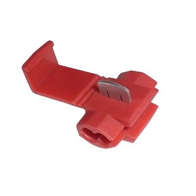 10 Stromdiebe Abzweigverbinder in ROT für Kabel 0,5-1,5mm², Schnellverbinder