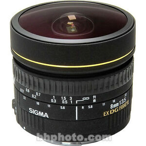 Sigma 8mm f/3.5 EX DG Circular Fisheye Lens for Nikon F