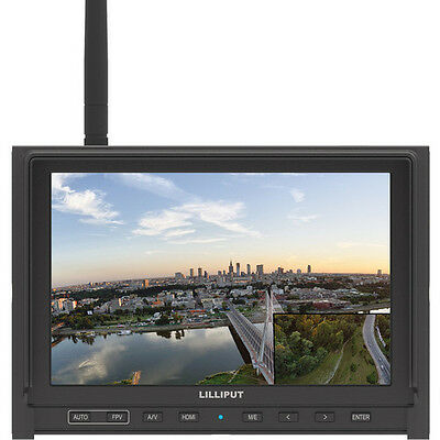 Lilliput 339/W IPS HDMI FPV Monitor 5.8Ghz Auto search receiver+built-in battery for sale  Shipping to India