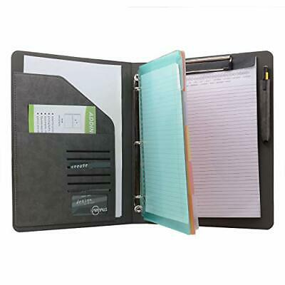 Binder Portfolio Organizer With Color File Folders Business And Interview Pad...