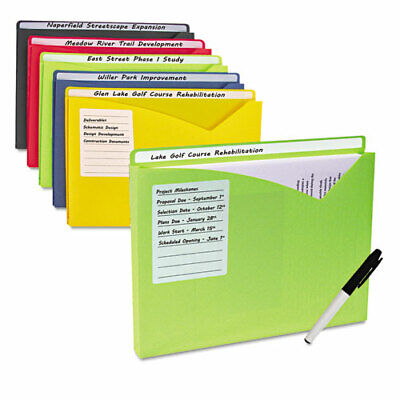 Write-on Expanding Poly File Folders 1 Exp. Letter Assorted Colors 10bx