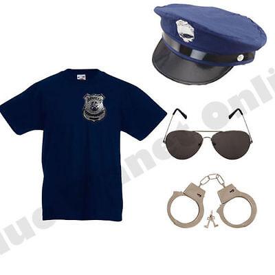 CHILD KIDS BOYS GIRLS POLICE COP FANCY DRESS COSTUME POLICEMAN (Cop Costumes)