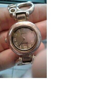 ($USED PRICE$ Geneva Platinum Model #7125 Girl's/Women´s Bangle wrist-watch)