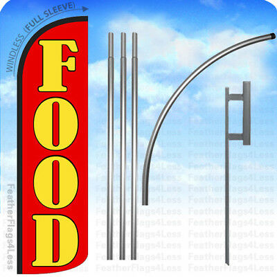 Food - Windless Swooper Feather Banner Flag 15 Kit Rq