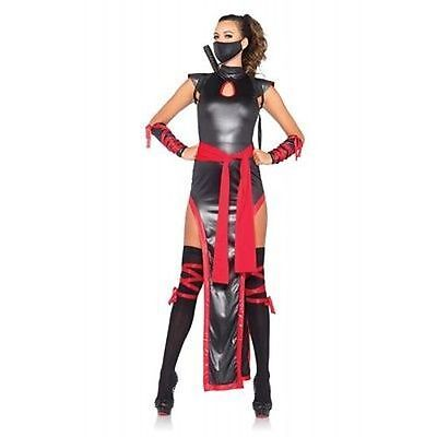 Ninja Schwarz Rot Gothic Punk Märchen Halloween Kostüm 85400 (Schatten Ninja Kostüm)