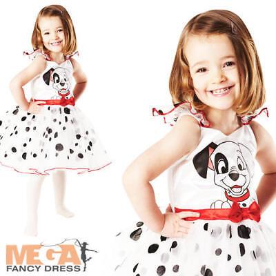 Girls 101 Dalmation Book Week Disney Dog Animal Fancy Dress Halloween Costume - 101 Dalmation Costume
