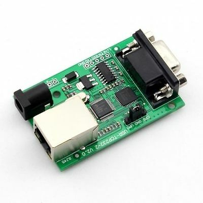Serial RS232 COM TO Ethernet LAN TCP IP Converter Module Two