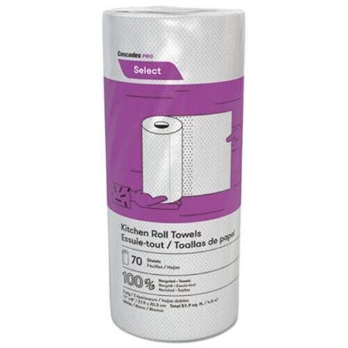 Cascades PRO Select 2-Ply Kitchen Paper Towel Rolls, 30 Rolls (CSDK070)