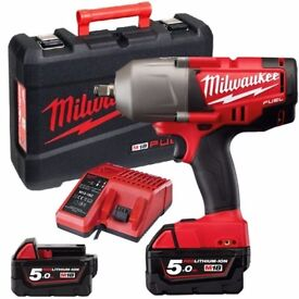 MILWAUKEE M18 FUEL BRUSHLESS 5.0AH CORDLESS IMPACT WRENCH 950NM M18 CHIWF12-502X