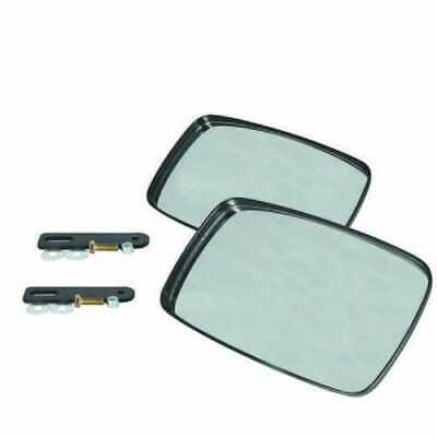 Tractor Loader Mirror Assembly With Brackets - 2 Mirrors Compatible With