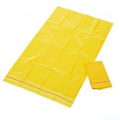 100 x Clinical Waste Bags - Self Sealing - Yellow Disposable