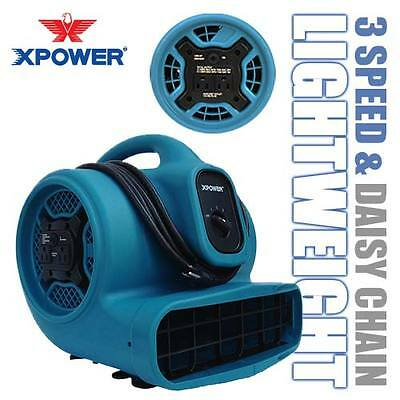 Xpower X-400a 1600 Cfm 14 Hp Air Mover Blower Carpet Dryer Floor Fan W Outlets