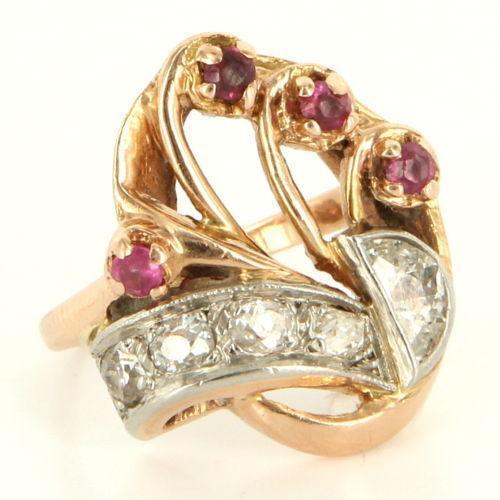 Antique Ruby Diamond Ring | eBay