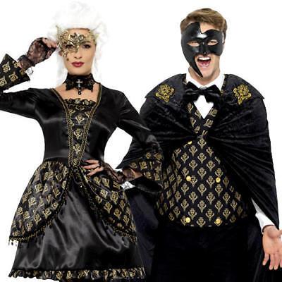 Gothic Venetian Opera Adults Halloween Fancy Dress Horror Vampire Adults Costume