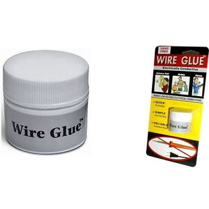 Conductive Wire Glue/Paint NO Soldering Iron/Gun Solder UK SELLER