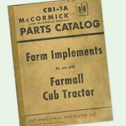 Farmall Cub Implements